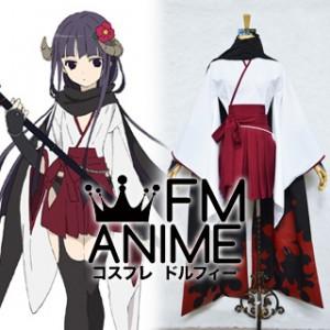 Inu x Boku SS Ririchiyo Shirakiin Kimono Cosplay Costume