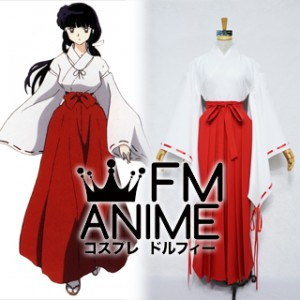 Inuyasha Kikyo Shrine Miko Kimono Cosplay Costume