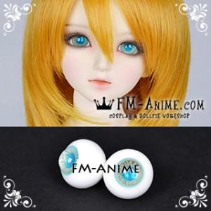 16mm Beach Light Golden Sand Spiral & Water Blue Shiny Pupil BJD Dolls Glass Eyes Eyeballs Accessories