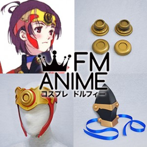 Kabaneri of the Iron Fortress Mumei Cosplay Accessories on Waist & Knee Armour & Headdress