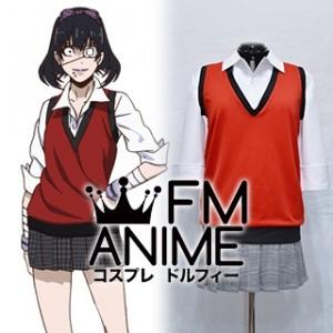 Kakegurui: Compulsive Gambler Midari Ikishima Uniform Cosplay Costume