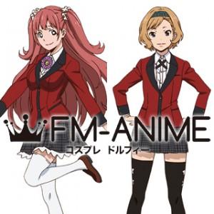 Kakegurui: Compulsive Gambler Yumemi Yumemite & Itsuki Sumeragi Uniform Cosplay Costume