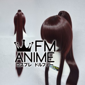 Long Length Clips on Straight Single Chocolate Reddish Brown Cosplay Wig