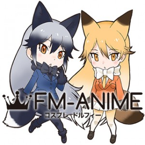 Kemono Friends Silver Fox & Red Fox Cosplay Costume