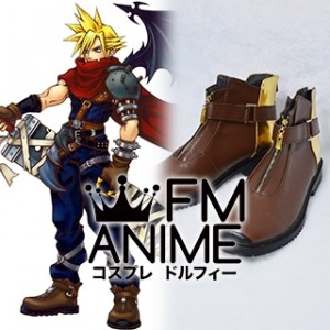 Kingdom Hearts Cloud Strife Cosplay Shoes Boots