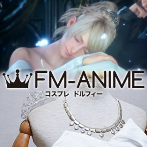 Kingsglaive: Final Fantasy XV Lunafreya Nox Fleuret Wedding Dress Cosplay Accessories Necklace Crwon