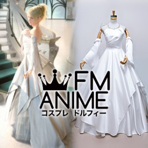 Kingsglaive: Final Fantasy XV Lunafreya Nox Fleuret White Wedding Dress Cosplay Costume