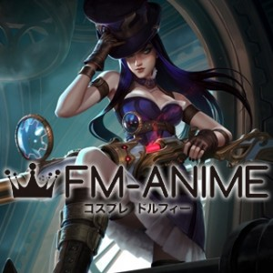 League of Legends Caitlyn Cosplay Costume with Hat