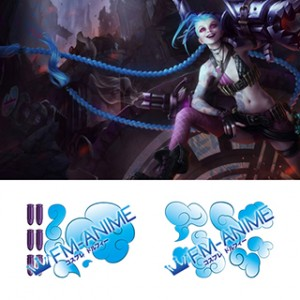League of Legends Jinx Cosplay Tattoo Stickers (Version 2)