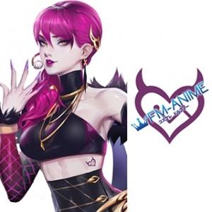 League of Legends K/DA Evelynn Virtual K-pop Band Cosplay Tattoo Stickers