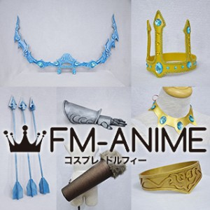 League of Legends Queen Ashe Skin Cosplay Accessories Prop Crown Necklace Armor Bow Arrow Quiver