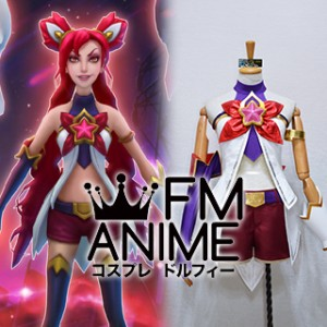 League of Legends Star Guardian Jinx Skin Cosplay Costume with Accessories