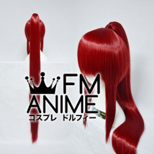 Long Length Clips on Straight Single Dark Red Cosplay Wig