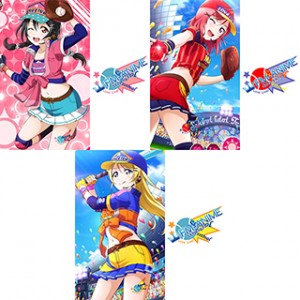 Love Live! Baseball Card Cosplay Tattoo Stickers