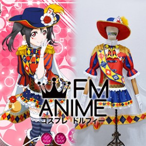 Love Live! Nico Yazawa Magician Cards Cosplay Costume with Hat