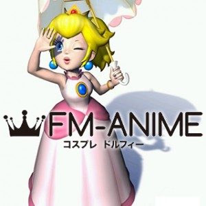 Mario Sunshine Princess Peach Dress Cosplay Costume
