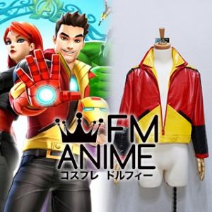 Marvel Avengers Academy Tony Stark Iron Man Jacket Cosplay Costume
