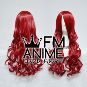 Medium Length Wavy Dark Red Cosplay Wig