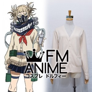 Japanese Uniform JK V-Neck Long-Sleeved Buttons with Pockets Sweater My Hero Academia Himiko Toga Cosplay (16 Colors)