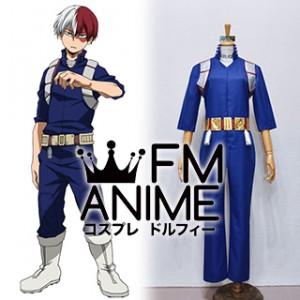 My Hero Academia Shoto Todoroki Blue Hero Cosplay Costume