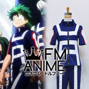 My Hero Academia U.A. High School Blue Sportswear Cosplay Costume