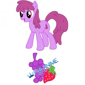My Little Pony Berry Punch Cutie Mark Cosplay Tattoo Stickers