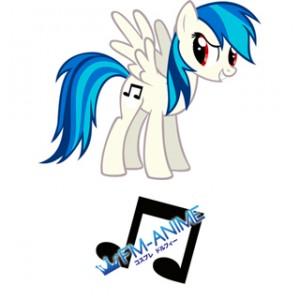 My Little Pony DJ Pon-3 Cutie Mark Cosplay Tattoo Stickers