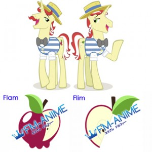 My Little Pony Flam / Flim Cutie Mark Cosplay Tattoo Stickers