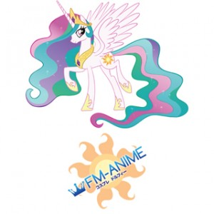 My Little Pony Princess Celestia Cutie Mark Cosplay Tattoo Stickers