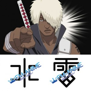 Naruto Darui Cosplay Tattoo Stickers