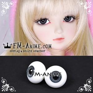 16mm Dark Slate Blue Spiral & Black Pupil BJD Dolls Glass Eyes Eyeballs Accessories