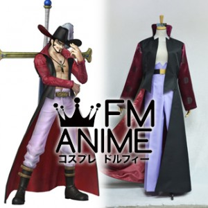 One Piece Dracule Mihawk Cosplay Costume with Hat