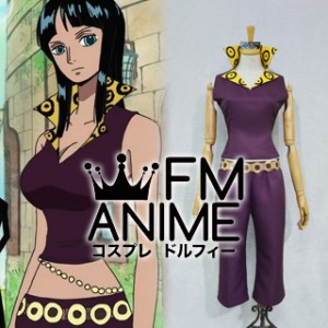 One Piece Nico Robin Sabaody Archipelago Arc Cosplay Costume with Hat