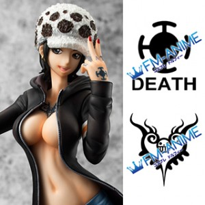 One Piece Trafalgar Law Figure Gender-swapped / Female Version Cosplay Tattoo Stickers