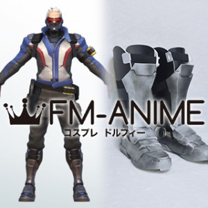 Overwatch Soldier 76 Armour Cosplay Shoes Boots Prop