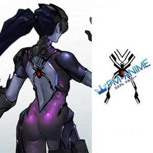 Overwatch Widowmaker Back Spider Cosplay Tattoo Stickers