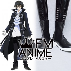 Pandora Hearts Gilbert Nightray Black Cosplay Shoes Boots