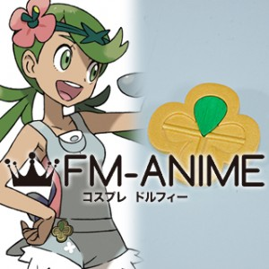 Pokemon Sun and Moon Captain Mallow Mao Mark Pin Badge Cosplay Accessories