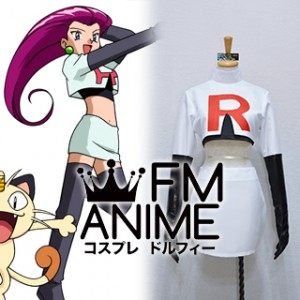 Pokemon Team Rocket trio Jessie Cosplay Costume