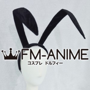 [Display] Inu x Boku SS Zange Natsume Rabbit Bunny Ears Headband Black Velvet Cosplay Accessories Prop