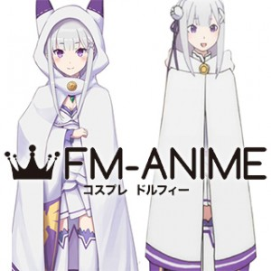 Re:ZERO -Starting Life in Another World- Emilia Cat Cloak Cosplay Costume