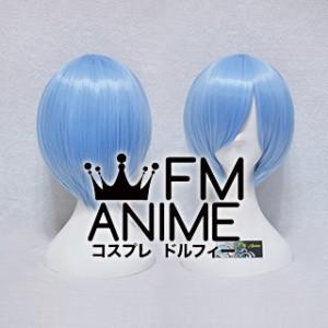Short Straight Light Sky Blue Cosplay Wig