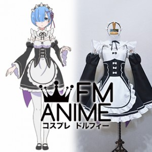 Re:ZERO -Starting Life in Another World- Ram & Rem Maid Dress Cosplay Costume