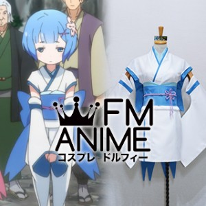 Re:ZERO -Starting Life in Another World- Rem Kid Blue Kimono Cosplay Costume