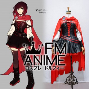 RWBY Volume 4 Ruby Rose Red Black Cosplay Costume