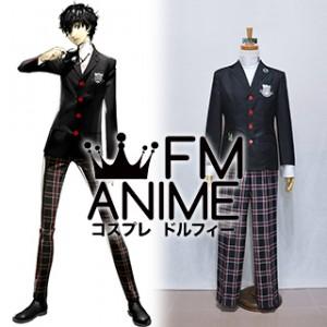 Shin Megami Tensei: Persona 5 Protagonist Akira Kurusu Uniform Cosplay Costume (L)