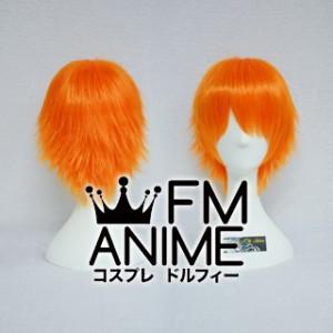 Short Layered Fluorescent Orange Cosplay Wig