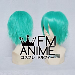 Short Layered Lake Green Cosplay Wig