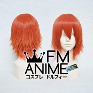Short Layered Smoky Orange Cosplay Wig