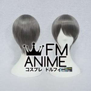 Short Straight Metal Gray Cosplay Wig